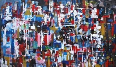 Art City - Loawint Ferpst 2009  ( acrylic on canvas  135 x 90 cms )