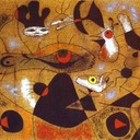 A Dew Drop Falling from a Bird\'s Wing Wakes Rosalie, who Has Been Asleep in the Shadow of a Spider\'s Web - Joan Miro, 1939