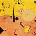 Catalan Landscape (The Hunter) - Joan Miro, 1923-1924