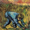 Reaper with Sickle (after Millet) - Vincent van Gogh, 1889