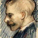 Head of a Man (Possibly Theo van Gogh), 1887