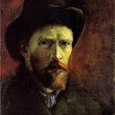 Self-Portrait with Dark Felt Hat, 1886