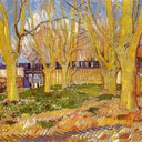 Avenue of Plane Trees near Arles Station, 1888