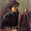 Self-Portrait with Dark Felt Hat at the Easel, 1886