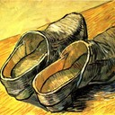 A Pair of Leather Clogs, 1888