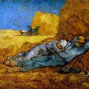 Rest Work (after Millet) - Vincent van Gogh, 1890