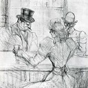 At the Bar Picton, Rue Scribe - Henri de Toulouse-Lautrec, 1896