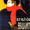 Ambassadeurs Aristide Bruant in his cabaret - Henri de Toulouse-Lautrec, 1892
