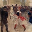 A l Elysee Montmartre - Henri de Toulouse-Lautrec, 1888