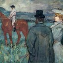 At the Races - Henri de Toulouse-Lautrec, 1899